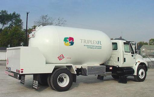 LPG dispensing truck